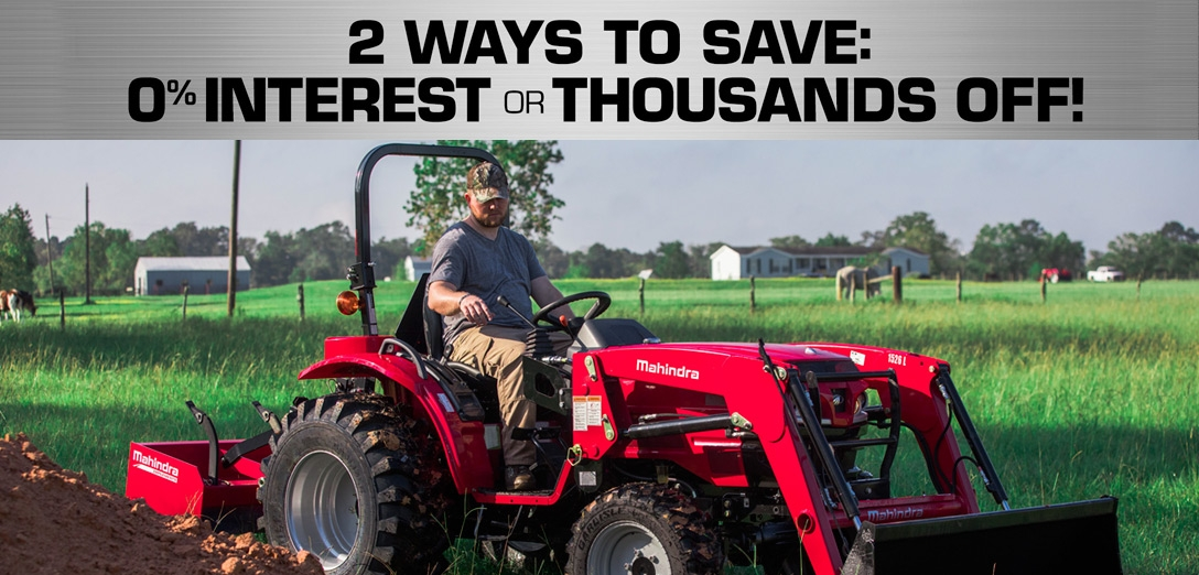 4mahindra Promotions   Exit 122 Outdoor Power Equipment